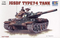 Japanese Type 74 Tank Model Kit 1/72 Trumpeter