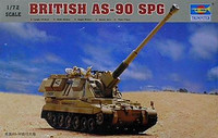 British AS-90 Self Propelled Gun 1/72 Trumpeter