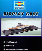 "19.6""Lx5.8""Wx4.5""H Showcase w/Black Base for 1/700 Ships Trumpeter"