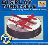 "Battery Operated Round Mirrored Turntable  7"" Dia.  for Model Kits Trumpeter"