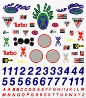 Sponsors & Numbers Dry Transfer Decals Pinecar