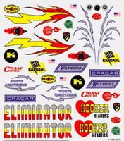 Hot Rod Dry Transfer Decals Pinecar