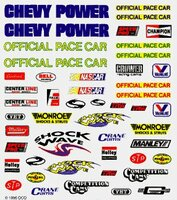 NASCAR Dry Transfer Decals Pinecar