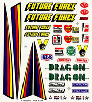 Drag Racer Dry Transfer Decals Pinecar
