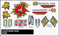 Lightning Rod Stick-On Decals Pinecar