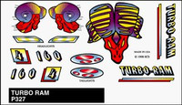Turbo Ram Stick-On Decals Pinecar