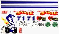 Cobra Dry Transfer Decals Pinecar