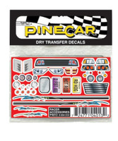 Racer Accessories Dry Transfer Pinecar