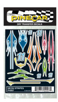 Neon Stripes Dry Transfer Pinecar