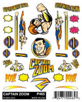Captain Zoom Stick-On Decal Pinecar