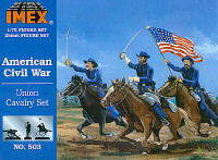 Union Cavalry Set Civil War Figures 1/72 Imex