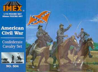 Confederate Cavalry Civil War Figures 1/72 Imex