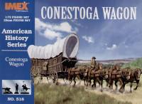 Conestoga Wagon & American History Figures Set 1/72 Imex