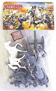 54mm Gettysburg Confederate Figure Playset (12pcs) (Bagged) Playsets