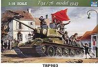 T-34/76 Model 1943 Tank 1/16 Trumpeter