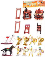 Warriors & Armor Playset (8 Warriors, 2 Horses, Cannon and Catapult & Accessories) (Bagged) Playsets
