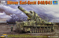 Morser Karl Gerat 040/041 2 chassis with crew 1/35 Trumpeter