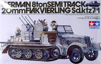German 8ton Semi Track SDKFZ 20mm Flakvierling 1/35 Tamiya