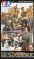 German Tank Crew Field Maintenance Set (9 Figures) 1/48 Tamiya