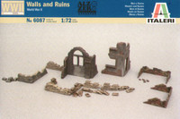 Ruin Wall Sections & Sandbags 1/72 Italeri