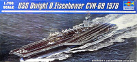 USS Dwight D. Eisenhower CVN69 Aircraft Carrier 1978 1/700 Trumpeter