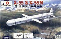 X55 & X55M (AS15 Kent NATA Code) Compact Strategic Cruise Missiles 1/72 A-Models