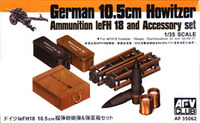 German 10.5cm Howitzer Ammo & Accessory Set 1/35 AFV Club