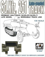 German Halftrack Workable Track Link Late Model for SdKfz 251 or SdKfz 11 1/35 AFV Club
