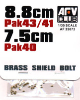8.8cm Pak 43/41 & 7.5cm PAK 40 Brass Shield Bolts 1/35 AFV Club
