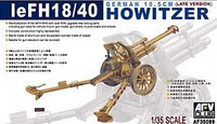 eFH18/40 German 10.5cm Late Version Howitzer Gun 1/35 AFV Club