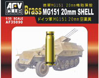 MG151 20mm Ammo Shells, Brass (20pc) 1/35 AFV Club
