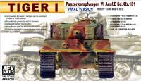 Tiger I Panzerkampfwagen VI Ausf E SdKfz 181 Tank Final Version (w/Photo-Etched) 1-48 AFV Club