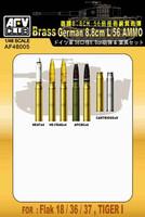 German 8.8cm L/56 Ammo Shells for Flak 18/36/37, Tiger I (Turned Brass) 1/48 AFV Club