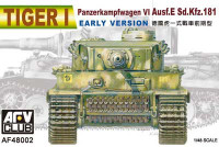 Tiger I Panzerkampfwagen VI Ausf E SdKfz 181 Tank Early Version 1/48 AFV Club