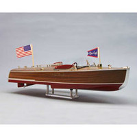 "24"" 1941 Chris Craft Racing 16' Hydroplane Boat Kit w/8-1/2"" Beam (1/8 Scale) Dumas"