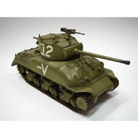 M-4A1(76)W Middle Tank Israeli Armored Brigade (Built-Up Plastic)  Easy Model MRC