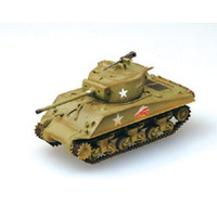 M-4A3(76)W Middle Tank 37th Battalion 4th Div. (Built-Up Plastic Easy Model MRC