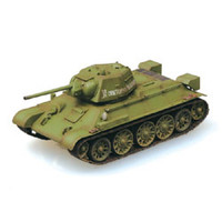 T-34/76 Model 1943 Tank Russian Army Autumn Paint Scheme (Built-Up Plastic)  Easy Model MRC
