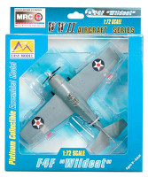 F-4F Wildcat VF3 Aboard USS Lexington WWII (Built-Up Plastic)  Easy Model MRC