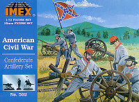 Confederate Artillery Set Civil War 1/72 Imex