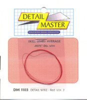 "3ft. Detail Wire Red (.0075"" Dia.) Detail Master"