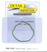 "3ft. Detail Wire Green (.0075"" Dia.) Detail Master"