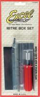 Mitre Box w/Handle & Blades Excel Tools