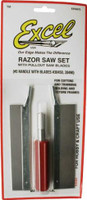 Razor Saw Set #5 Handle w/Blades Excel Tools