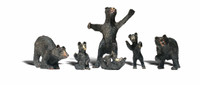 Black Bears O Scale Woodland Scenics