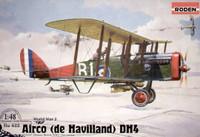 DeHavilland D.H.4 WWI US BiPlane Fighter 1/48 Roden