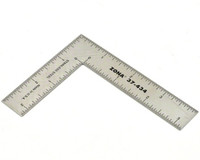 "3"" x 4"" Stainless Steel L-Square Ruler (.022 Thick) Zona Tools"