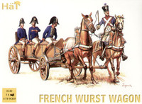 Napoleonic French Wurst Wagon (4 Figures, 2 horses & Wagon) 1/72 Hat