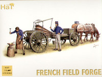 Napoleonic French Field Forge (2 Figures, 2 Horses & Wagon) 1/72 Hat