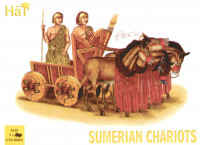 Sumerian Chariots (3 Sets) (2 Soldiers, 4 Horses & 3 Chariots) 1/72 Hat